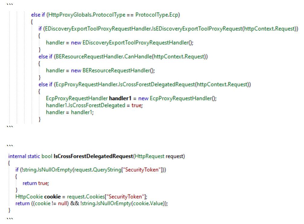 'SecurityToken' cookie necessary to exploit ProxyToken vulnerability in Microsoft Exchange Server