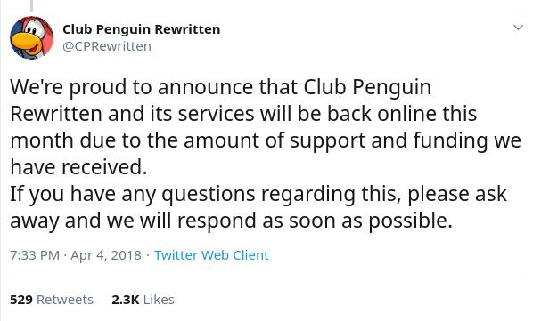 Logins Stolen From Admin-Backdoored Club Penguin Rewritten Site
