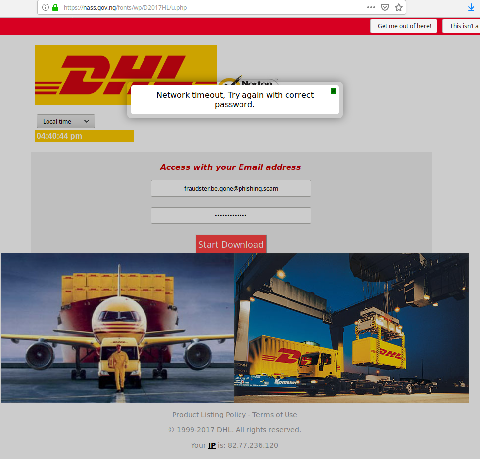 Ironically, Phishing Kit Hosted on Nigerian Government Site
