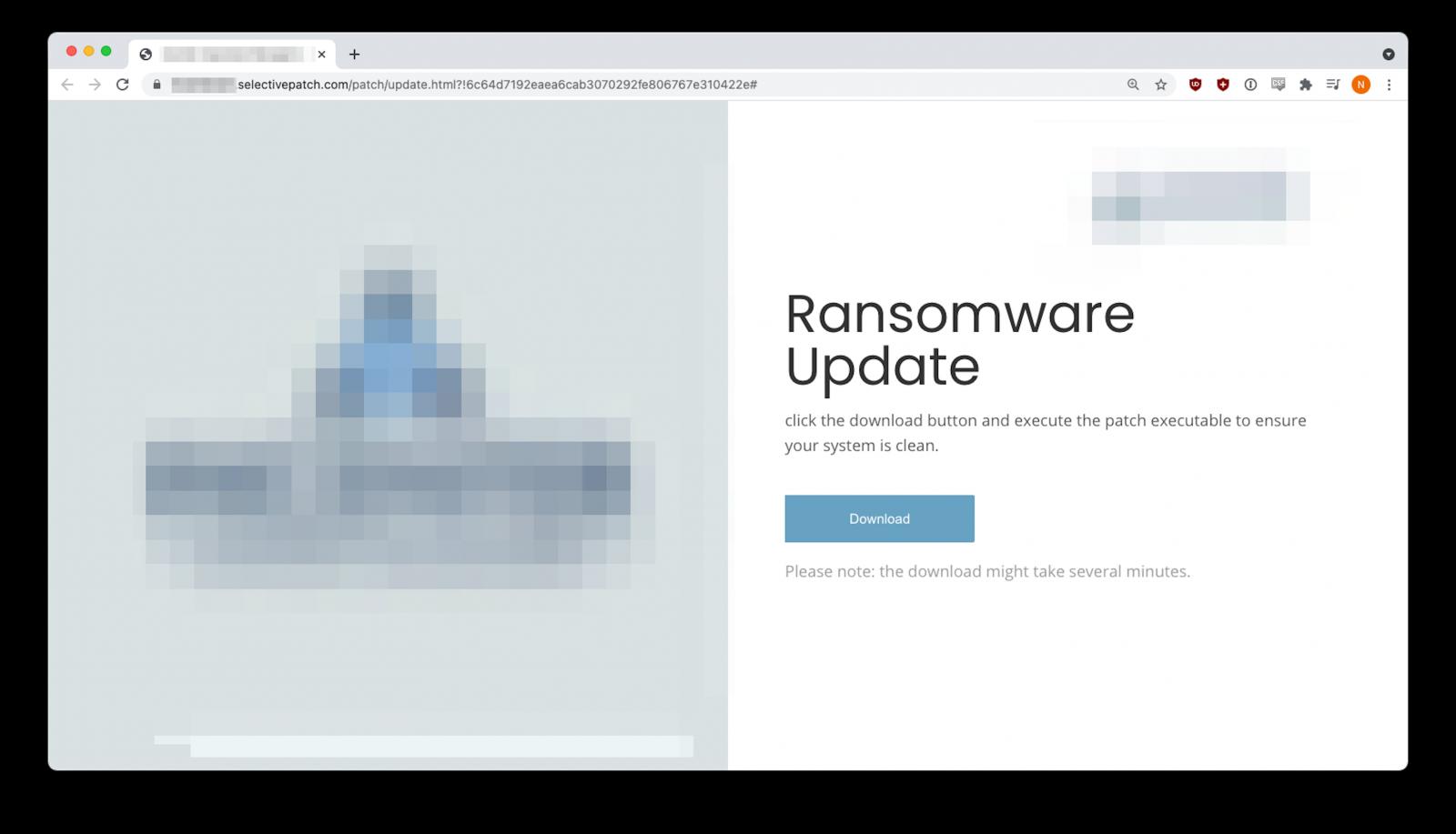 fake ransomware update