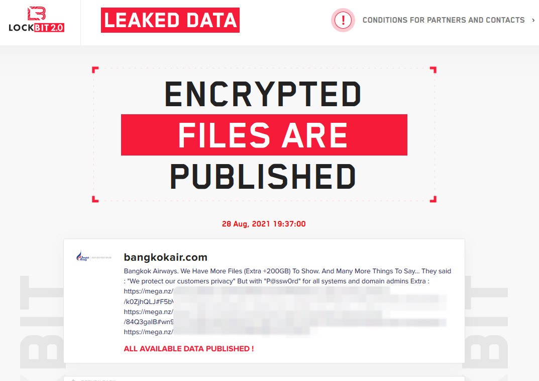 LockBit leaks over 200GB of data stolen from Bangkok Airways