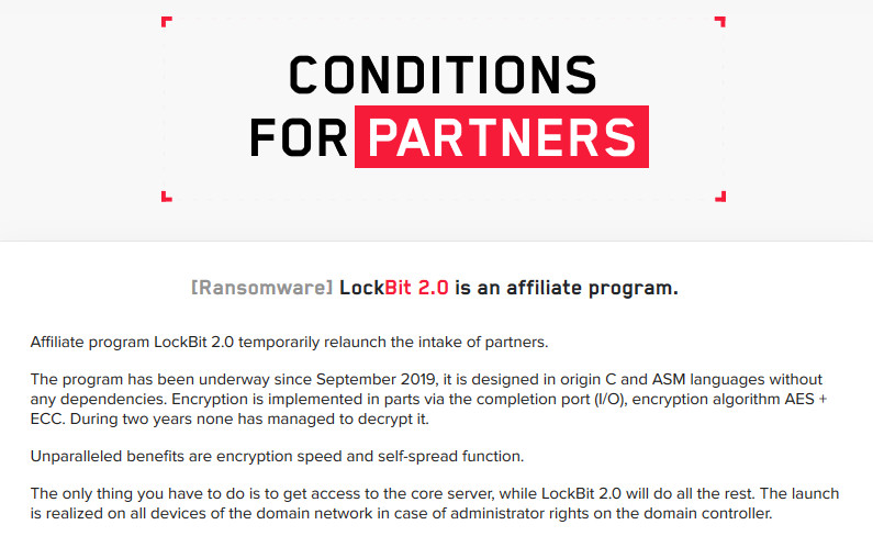 LockBit ransomware looking for new affiliates