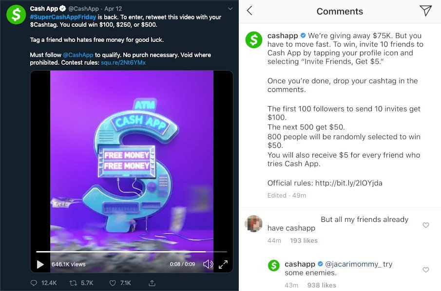 Cash App Scammers Deal Their Cons On Twitter Instagram Youtube