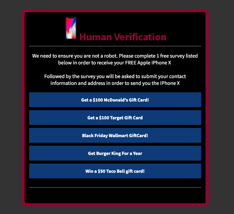 how to get around human verification surveys