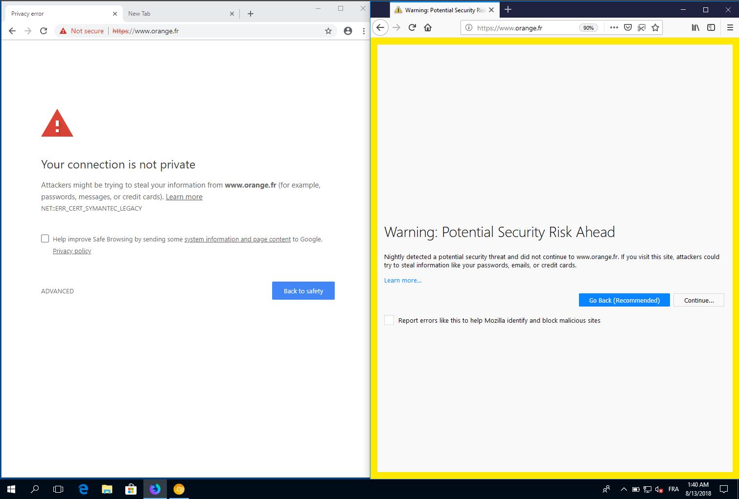 Firefox Nightly Distrusts All Symantec Tls Certs