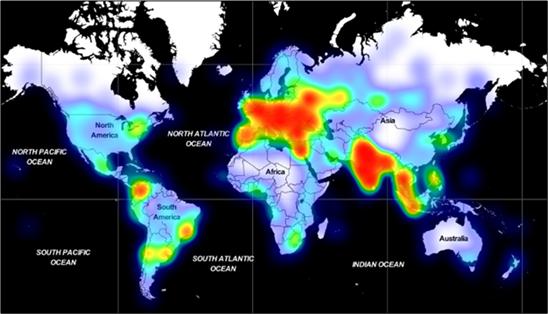 Adrozek geographic distribution