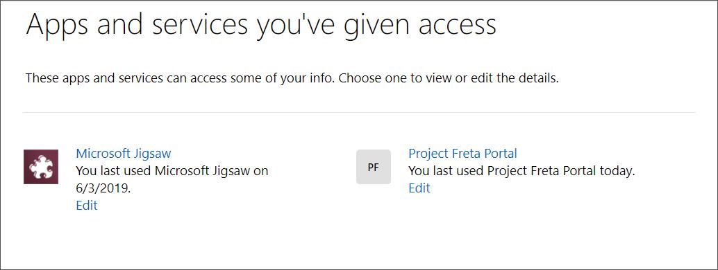 Offices 365 hesabına erişimi olan uygulamalar ve hizmetler