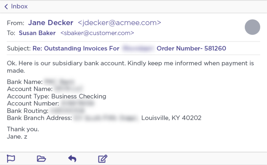 Atacker-controlled account details