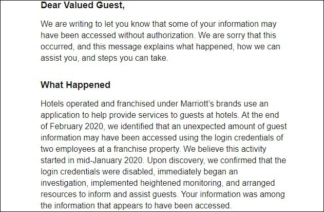 New Marriott data breach affects millions