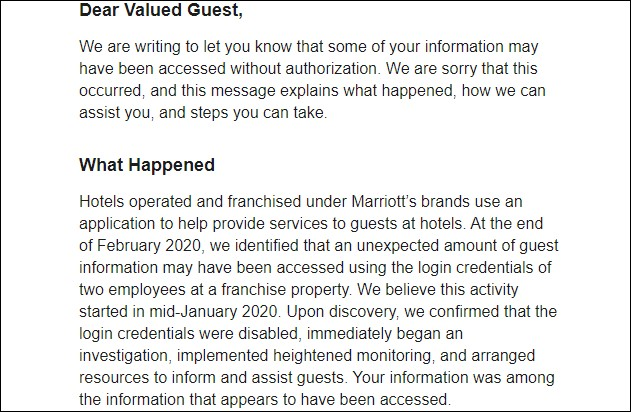 Marriott data breach exposes personal data of 5.2 million guests