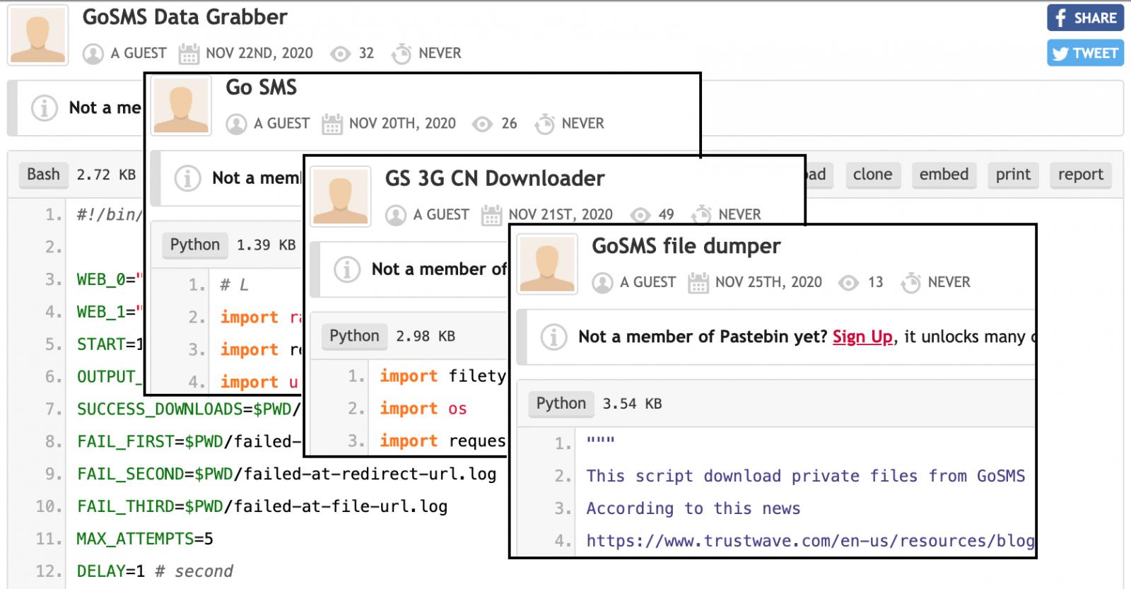 Scripts de explotación de GO SMS Pro