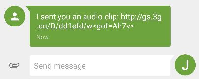 GO SMS Pro compartir URL