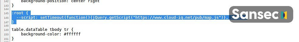 Código CSS de Magecart