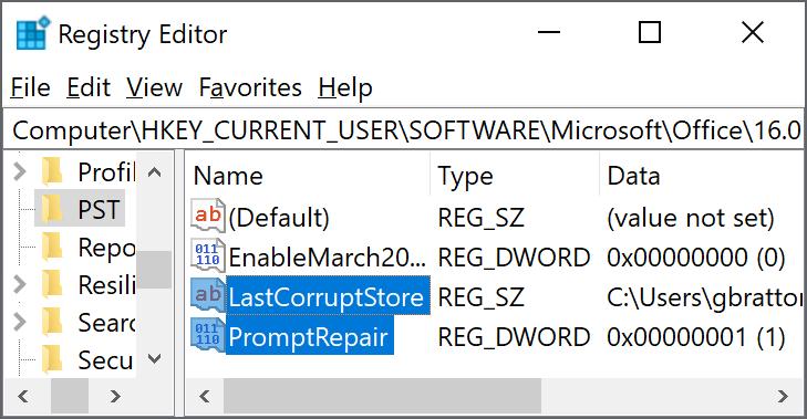 Registry keys to delete
