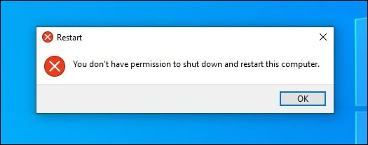 Shutdown error on Windows 10