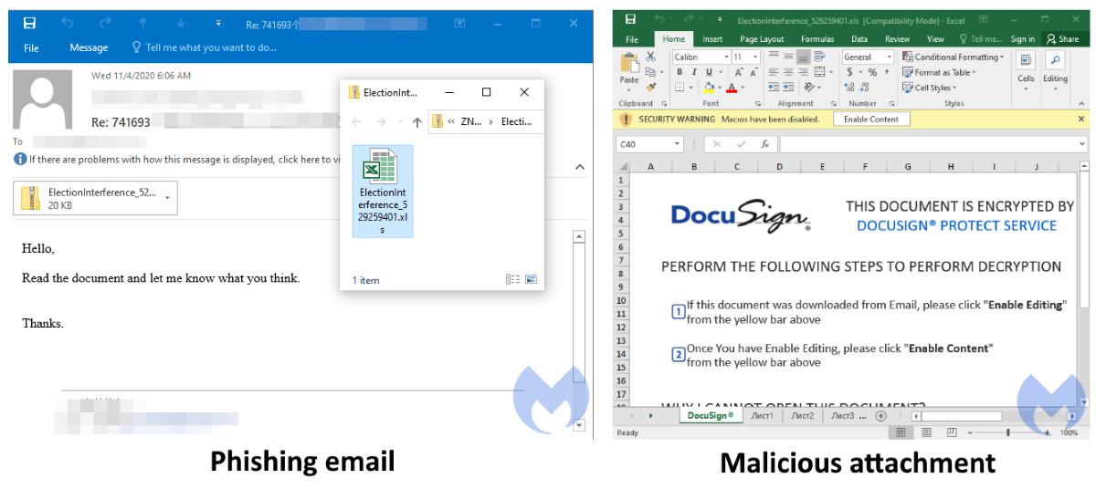 Qbot Docusign phishing email