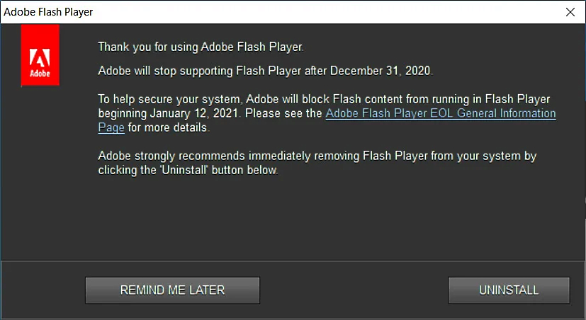 Flash notice