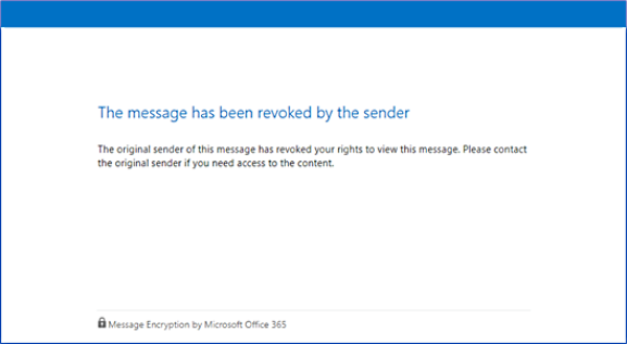 Revoked encrypted email error