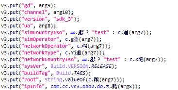 Información del dispositivo recopilada por el malware