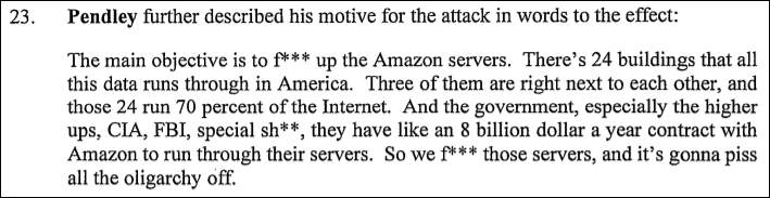 Planned AWS bomb attack