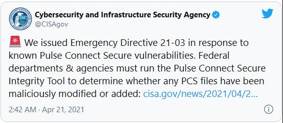 CISA Emergency Directive 21-03