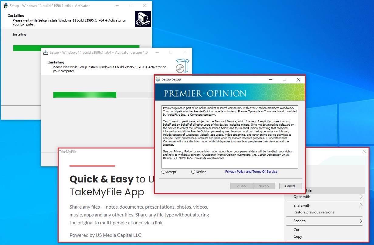 Fake Windows 11 installer