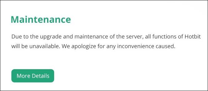 Hotbit-site-under-maintenance