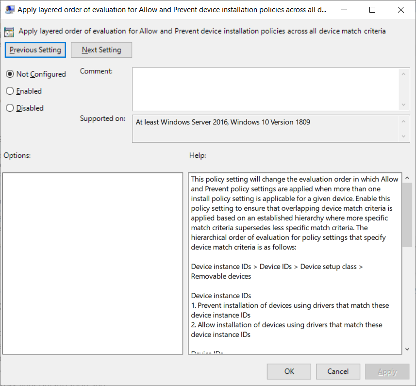 Layered group policy