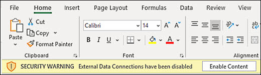 Office 'Enable Content' prompt