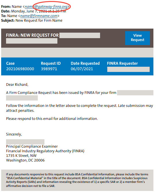 Penalty threats phishing email sample