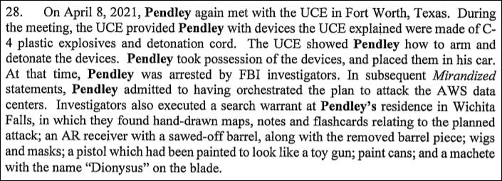Pendley arrest & search