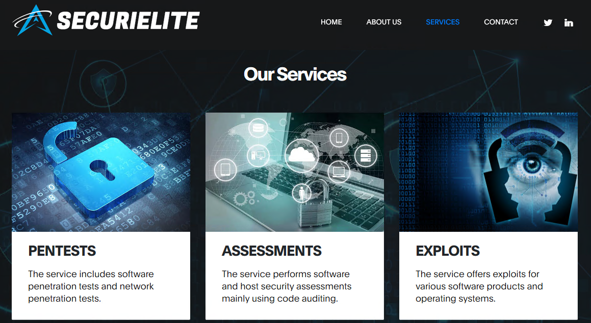 SecuriElite website
