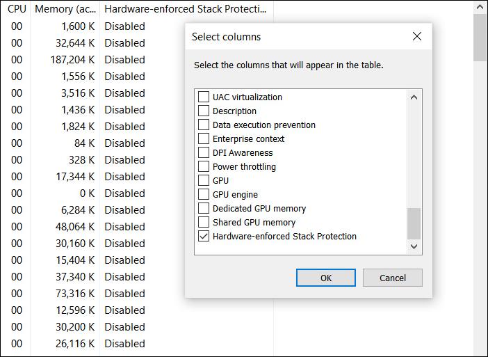 Hardware-enforced Stack Protection column