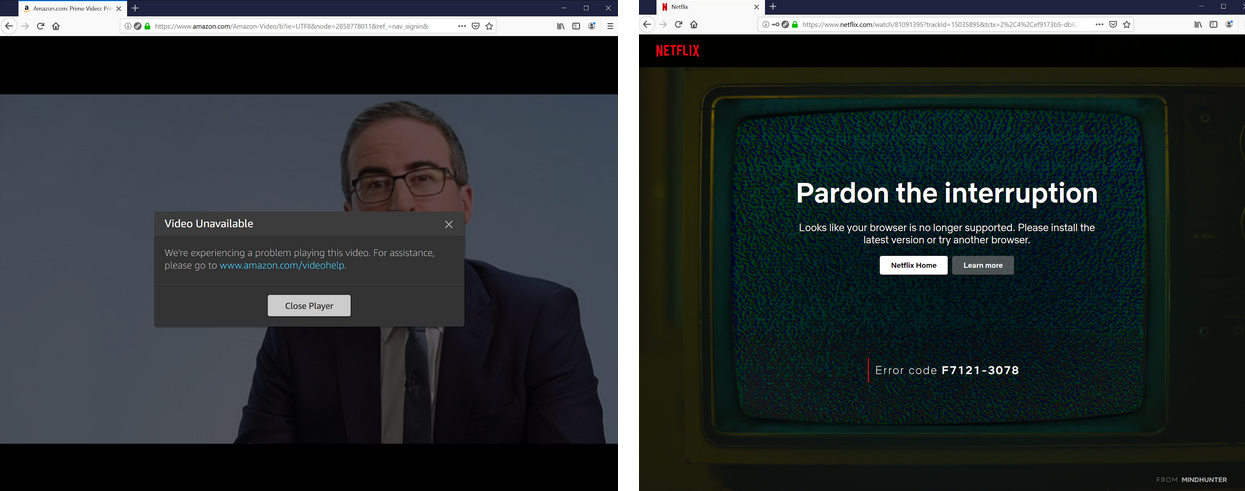 Video streaming errors
