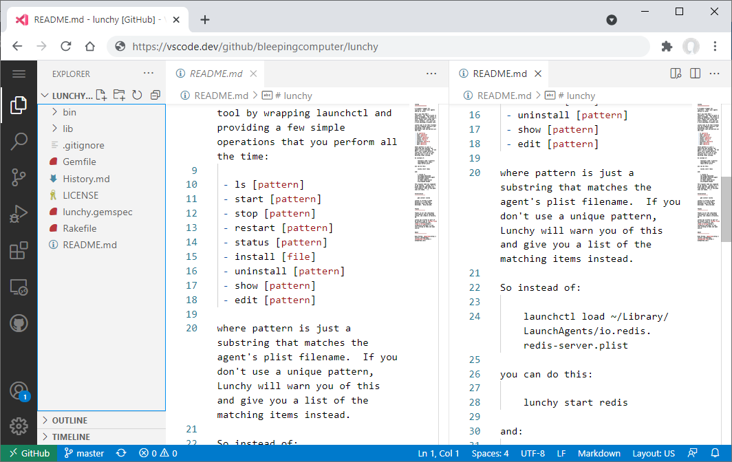 Visual Studio Code for the Web