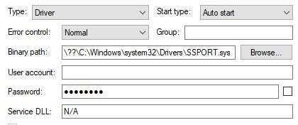Vulnerable driver set to load on system boot