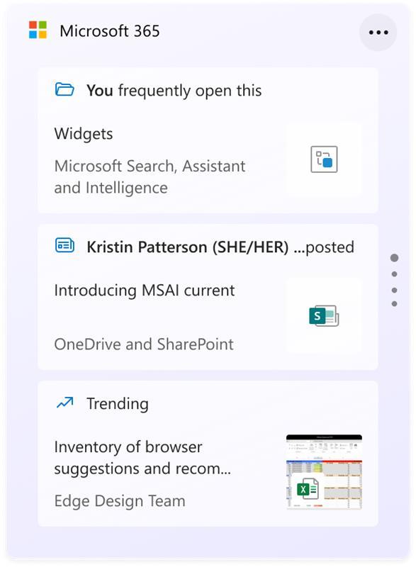 Windows 11 Microsoft 365 widget