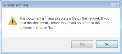 The security dialog displayed by a micropatched Adobe Reader