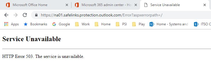 Microsoft 365 Experiencing Issues, Users Unable to Access URLs From