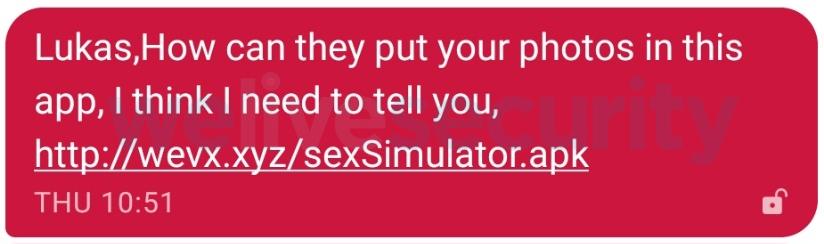 SMS malicioso