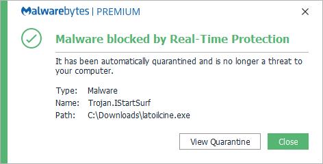 Trojan.IStartSurf bloqueado