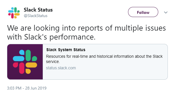 Slack Is Experiencing Worldwide Outage, Degraded Performance