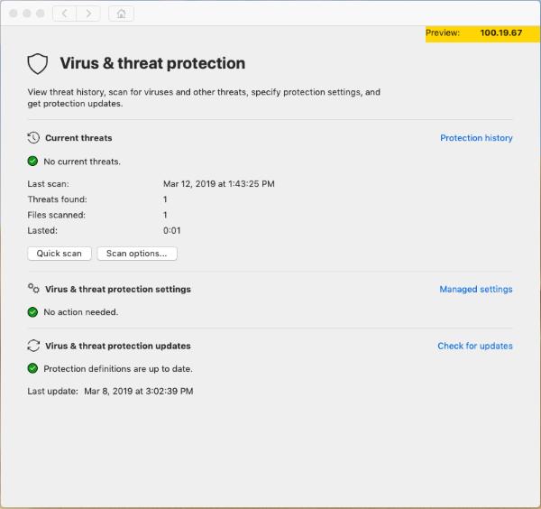 Microsoft Defender ATP client for macOS