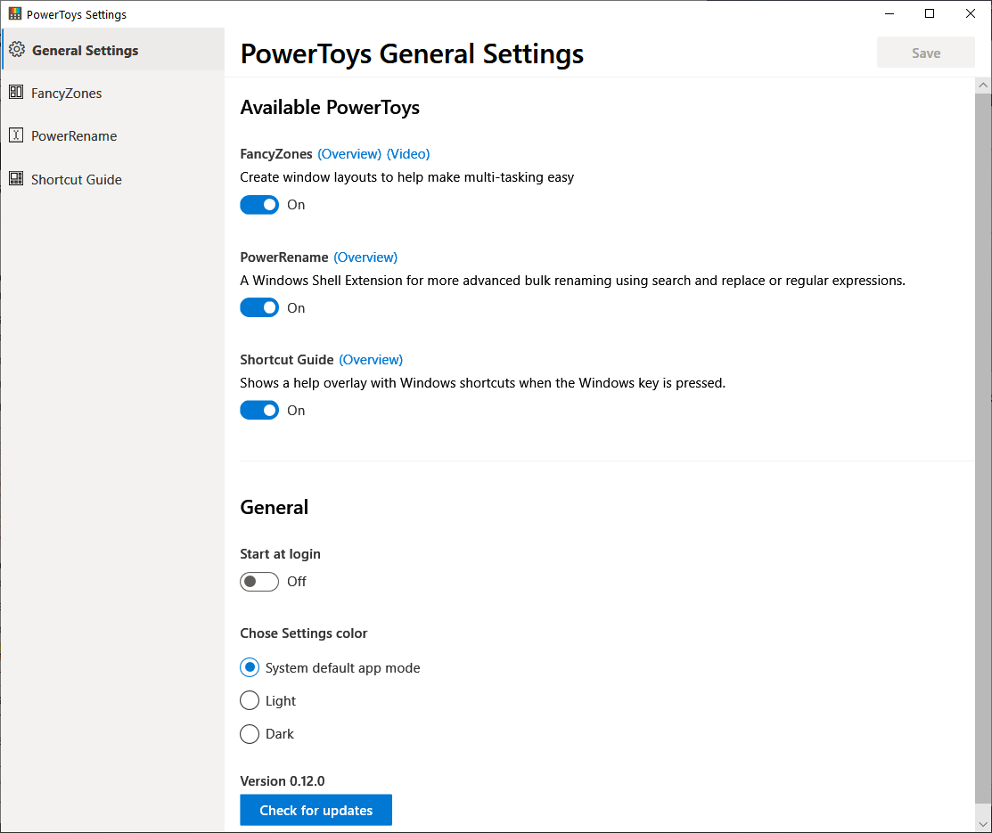 PowerToys Settings