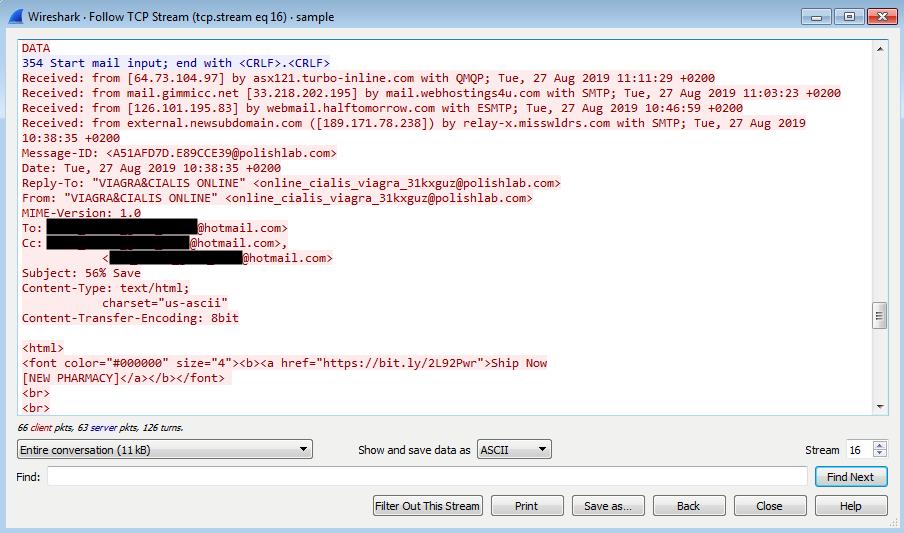 Tráfico de spam transmitido por enrutadores pirateados