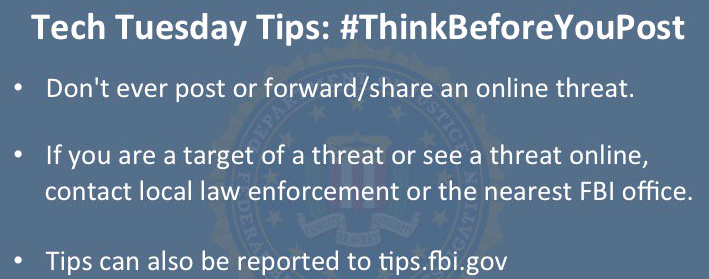 FBI Warns Students to Think Before They Post Online Threats