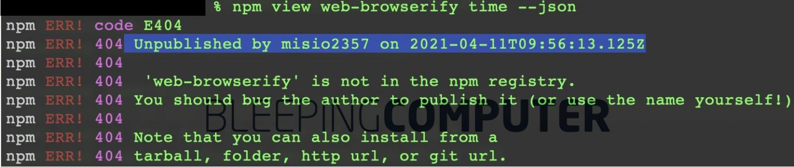 web-browserify pulled
